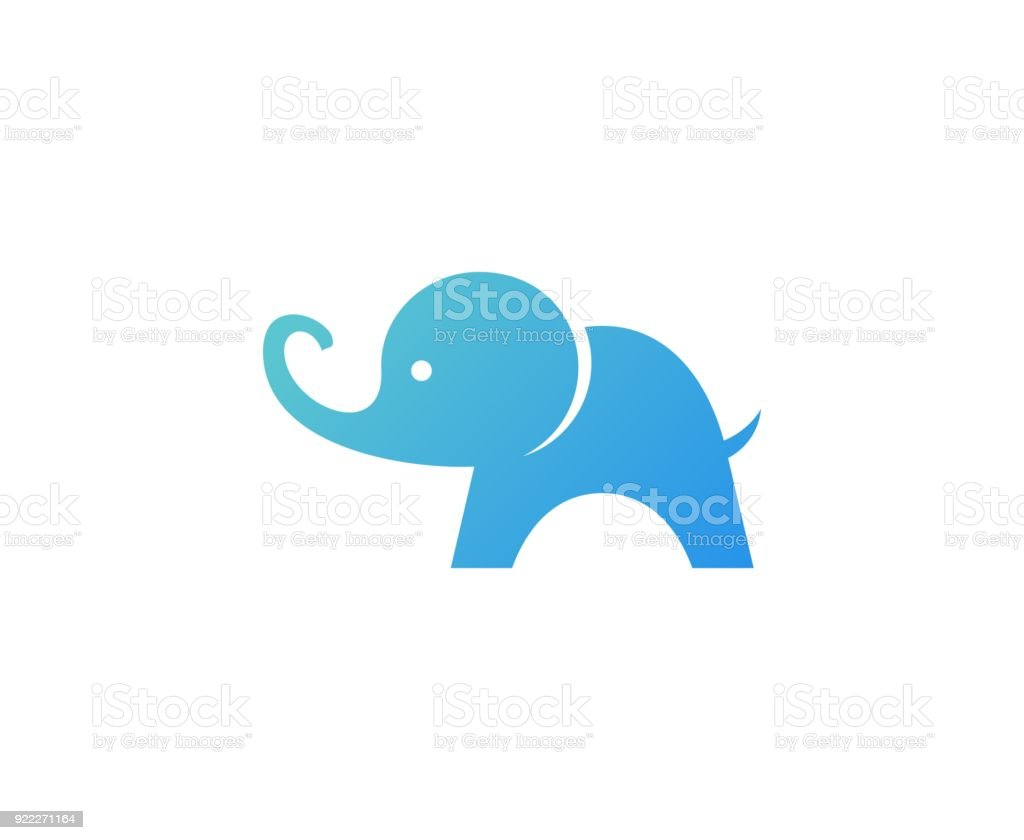 Elephant icon vector art illustration