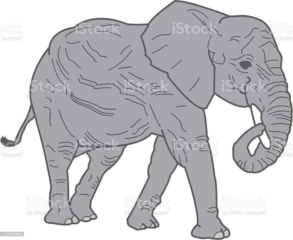 Elephant Illustration royalty-free elephant illustration stock vector art & more images of africa