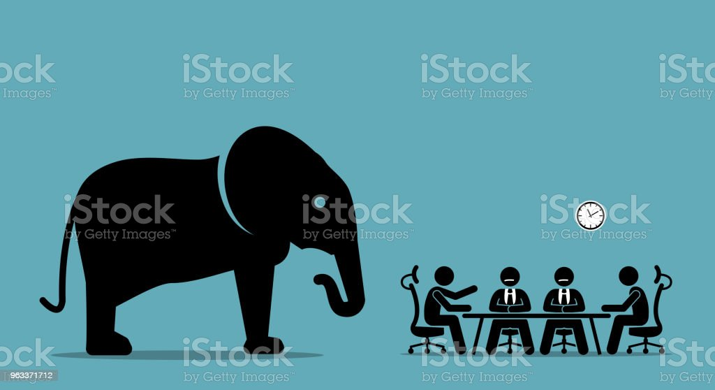 Elephant in the room. - Grafika wektorowa royalty-free (Biuro)