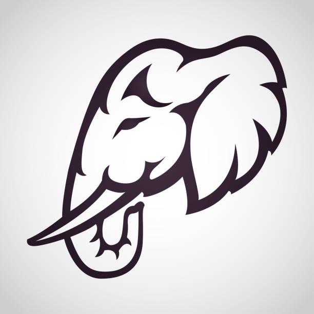 elephant logo icon design, vector illustration vector art illustration