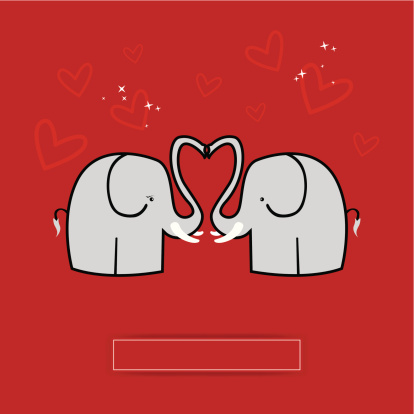 Elephant lovers greeting card