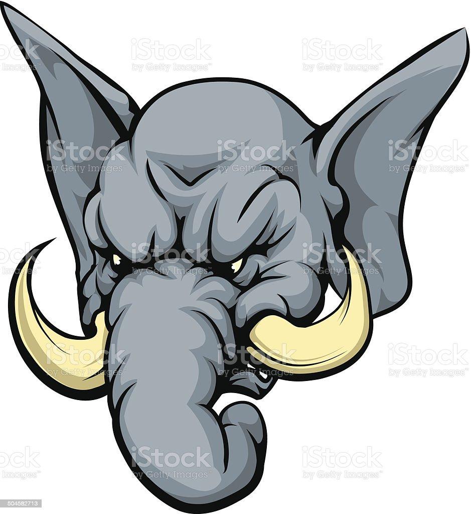 Elephant mascot character vector art illustration