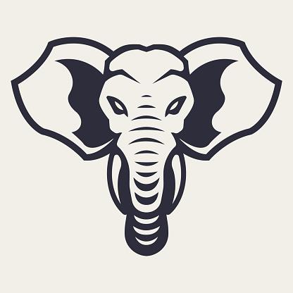 Elephant Mascot Vector Icon