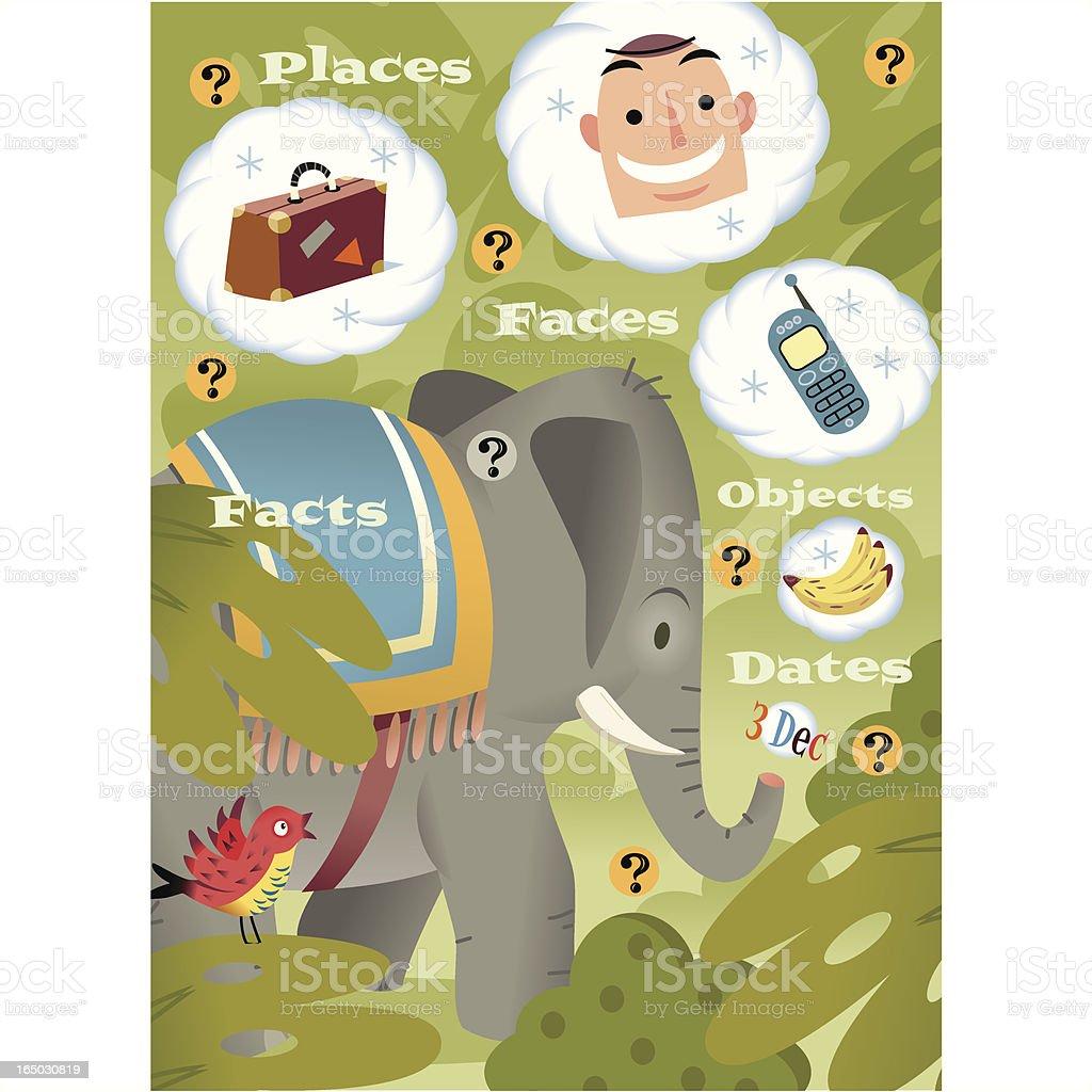 Elephant memory royalty-free stock vector art