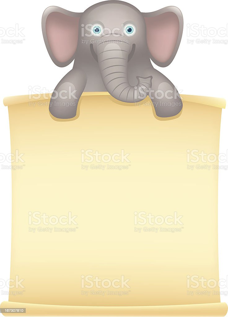 Elephant Message royalty-free stock vector art