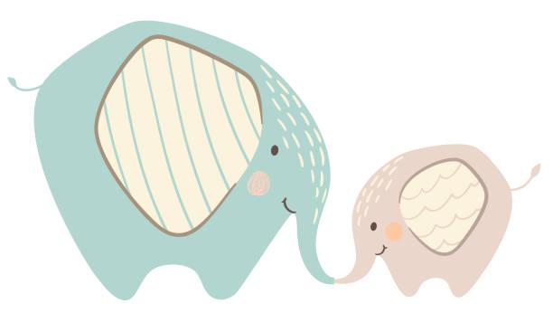 Best Elephant Family Illustrations, Royalty-Free Vector ...
