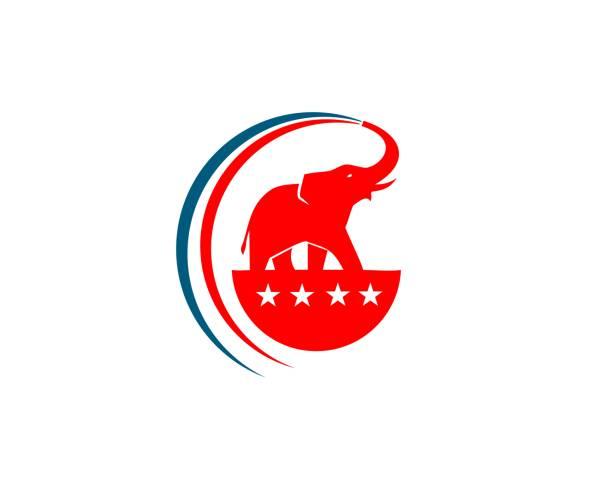Elephant republic  party logo Elephant republic party logo elephant stock illustrations