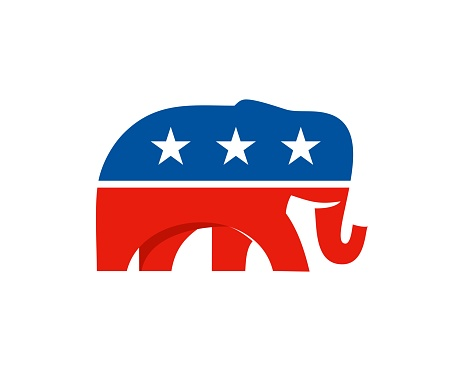 elephant republican party modern logo