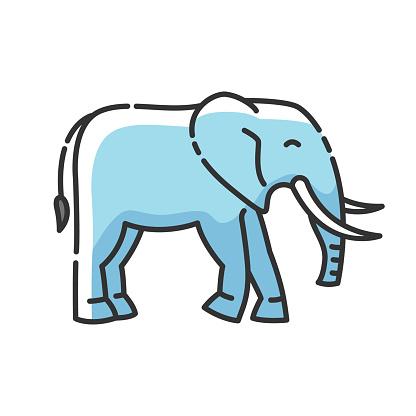 Elephant RGB color icon