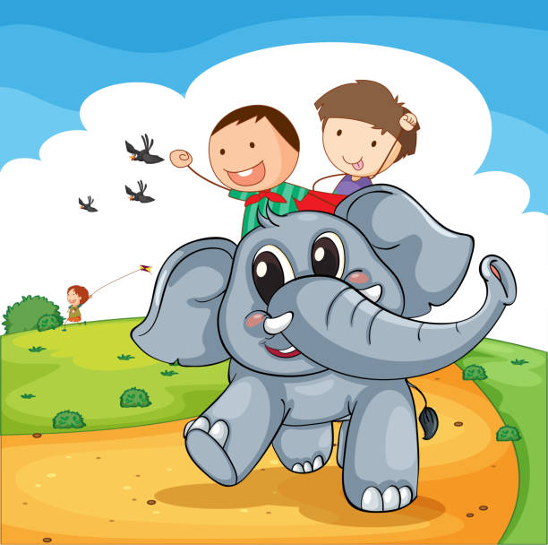 Royalty Free Elephant Ride Clip Art, Vector Images ...