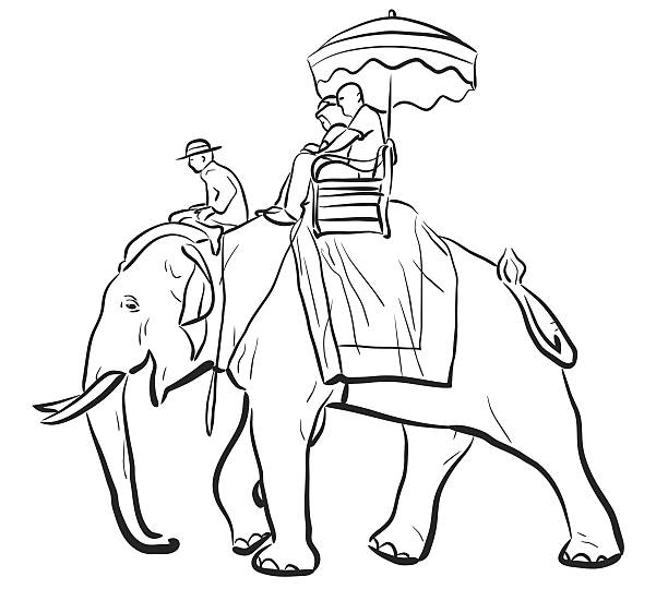 Royalty Free Riding Elephant Clip Art, Vector Images ...