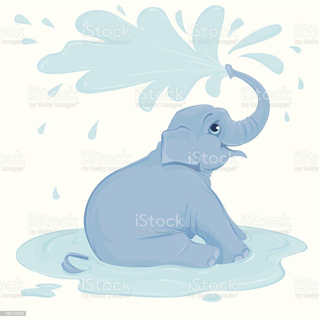 Elephant Shower Stock Illustration - Download Image Now ...