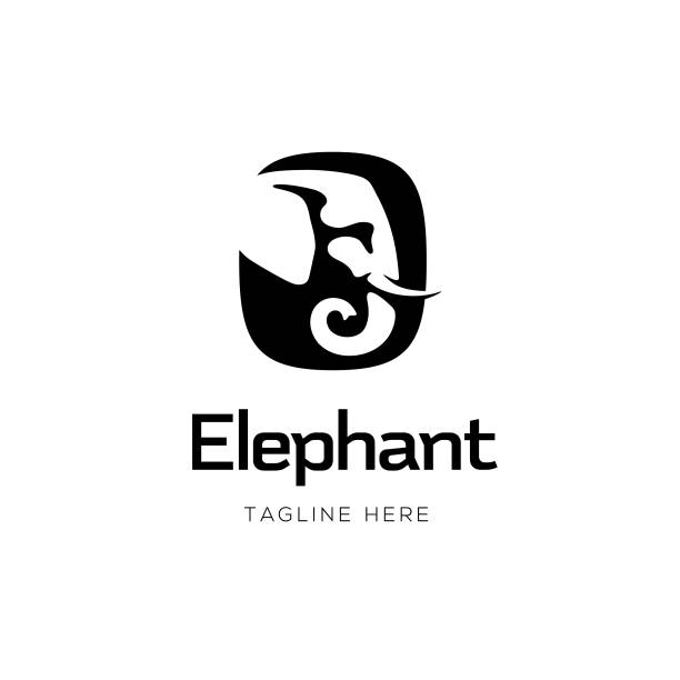 Elephant Sign Design Elephant Sign Design elephant stock illustrations