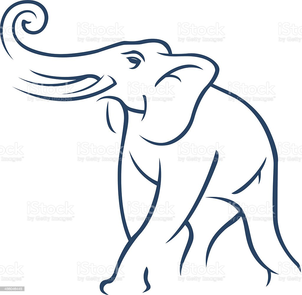 elephant sketch vector art illustration