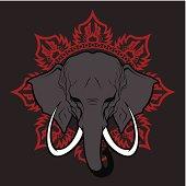 Elephant stylized head