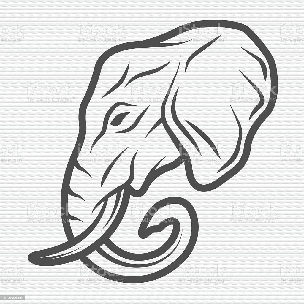 Elephant symbol, logo, emblem. vector art illustration