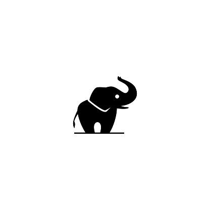 elephant vector icon illustration