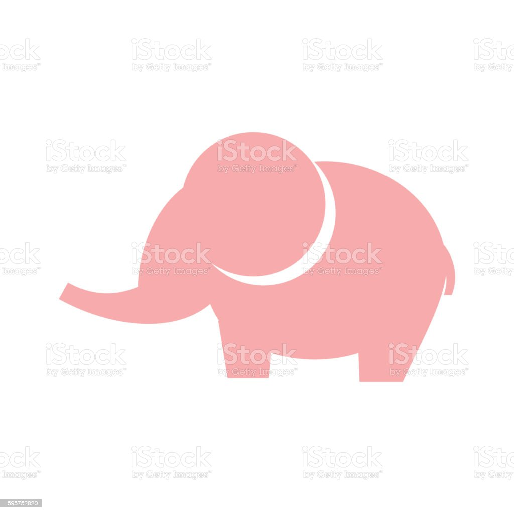 Elephant vector icon vector art illustration