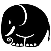 elephant, vector icon
