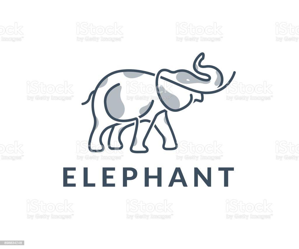 elephant vector icon vector art illustration