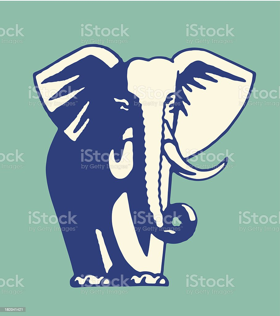 Elephant vector art illustration