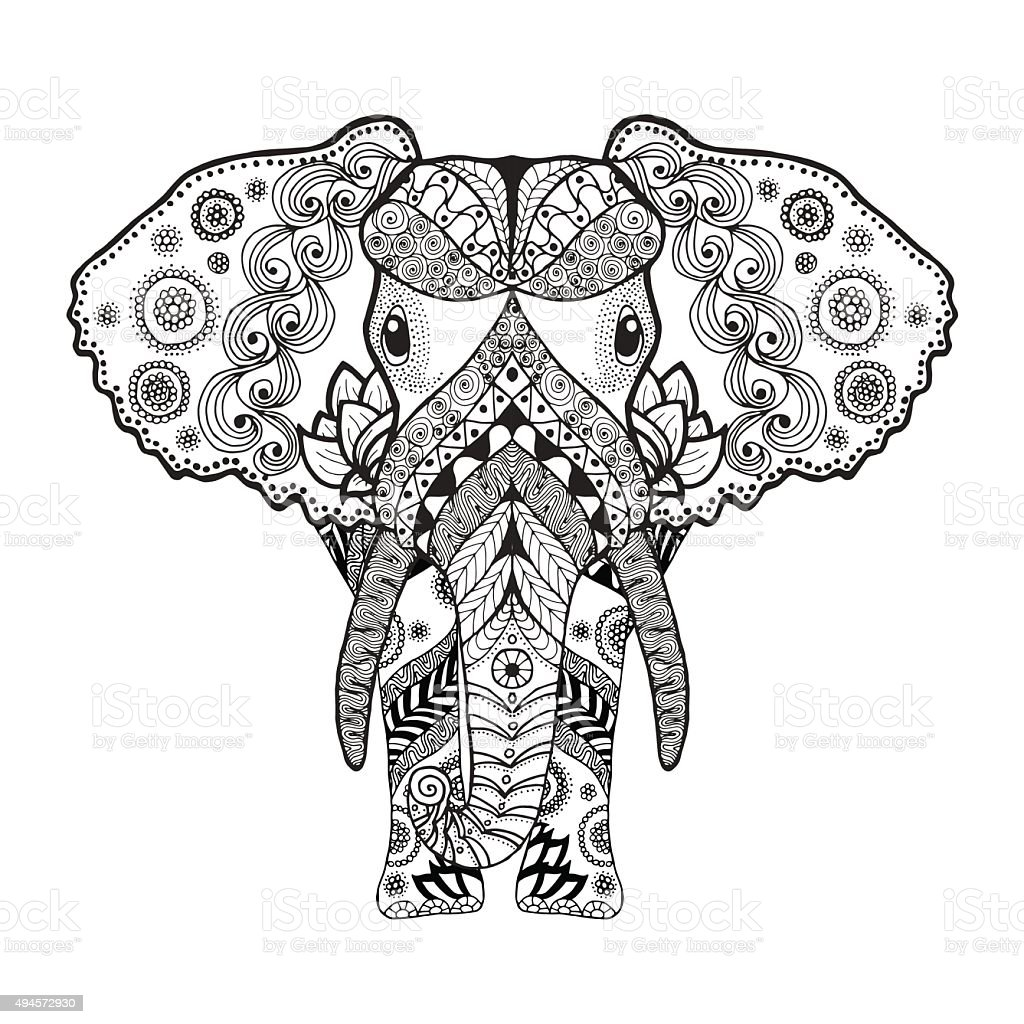 elephant coloring pages for adults printable - 28 images ... | 1024x1024