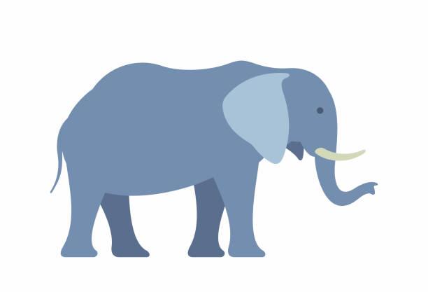 elephant - elefantenkunst stock-grafiken, -clipart, -cartoons und -symbole