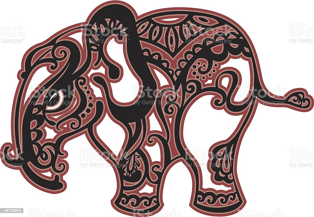 Elefante elefante - immagini vettoriali stock e altre immagini di animale royalty-free