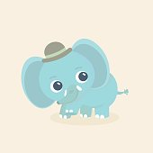Elephant vector illustration.