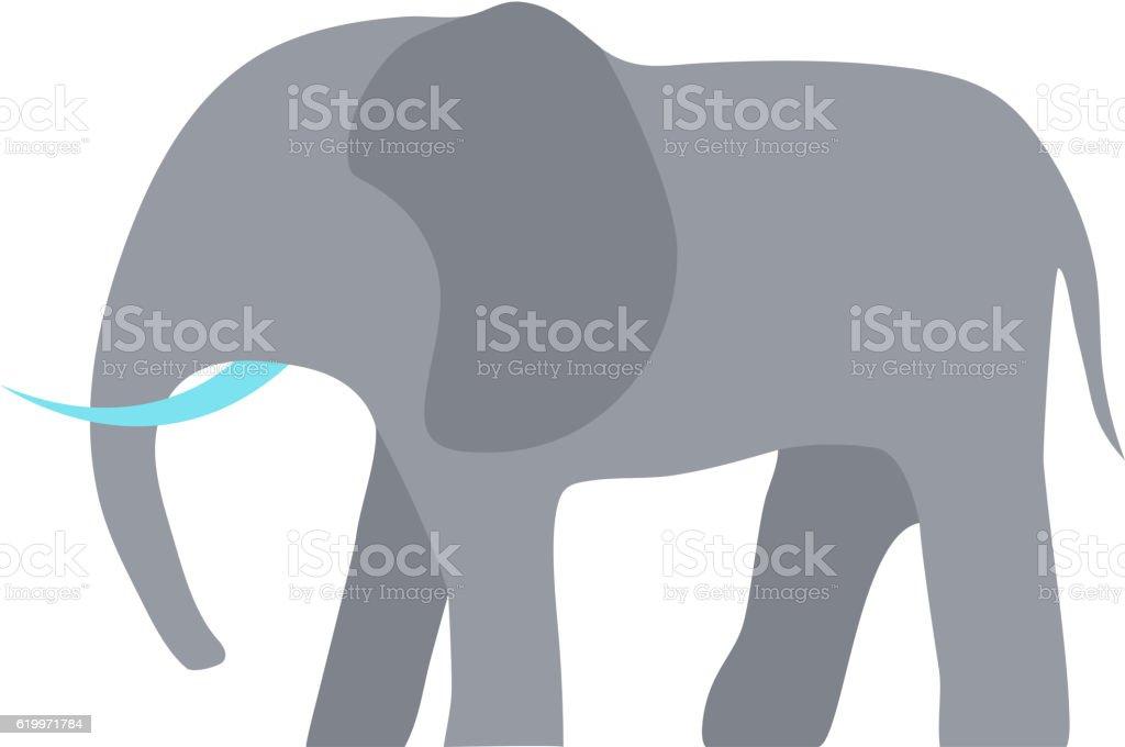 Elefant Vektor-illustration. – Vektorgrafik