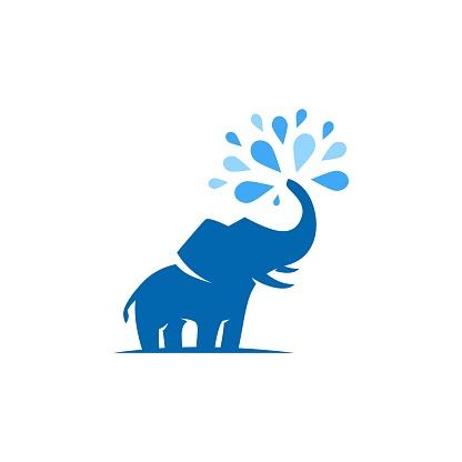elephant water songkran festival vector illustration