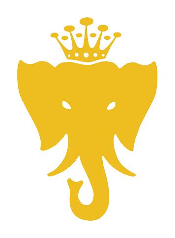 Elephant Wearing Crown