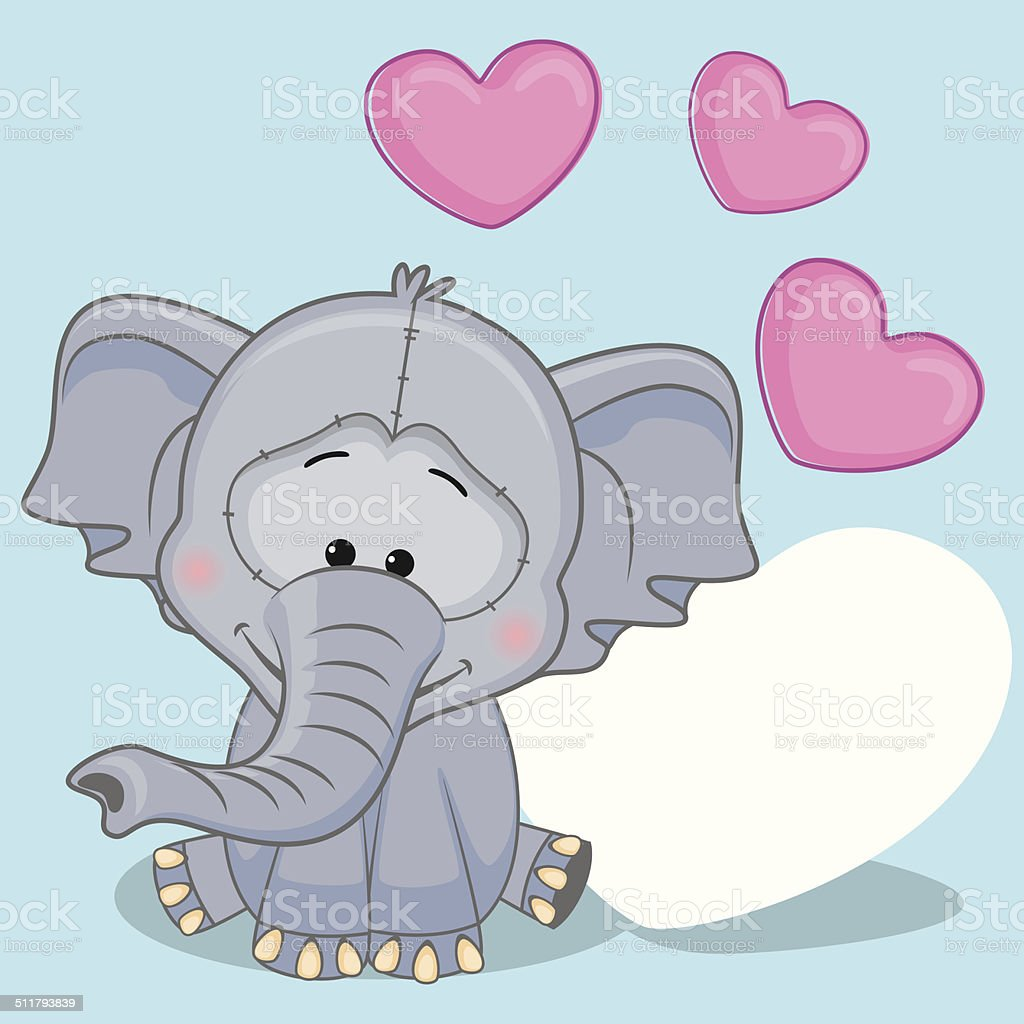 Elefant Mit Herz Vektor Illustration 511793839 | iStock
