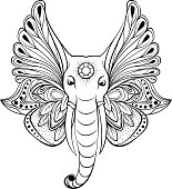elephant with wings instead ears