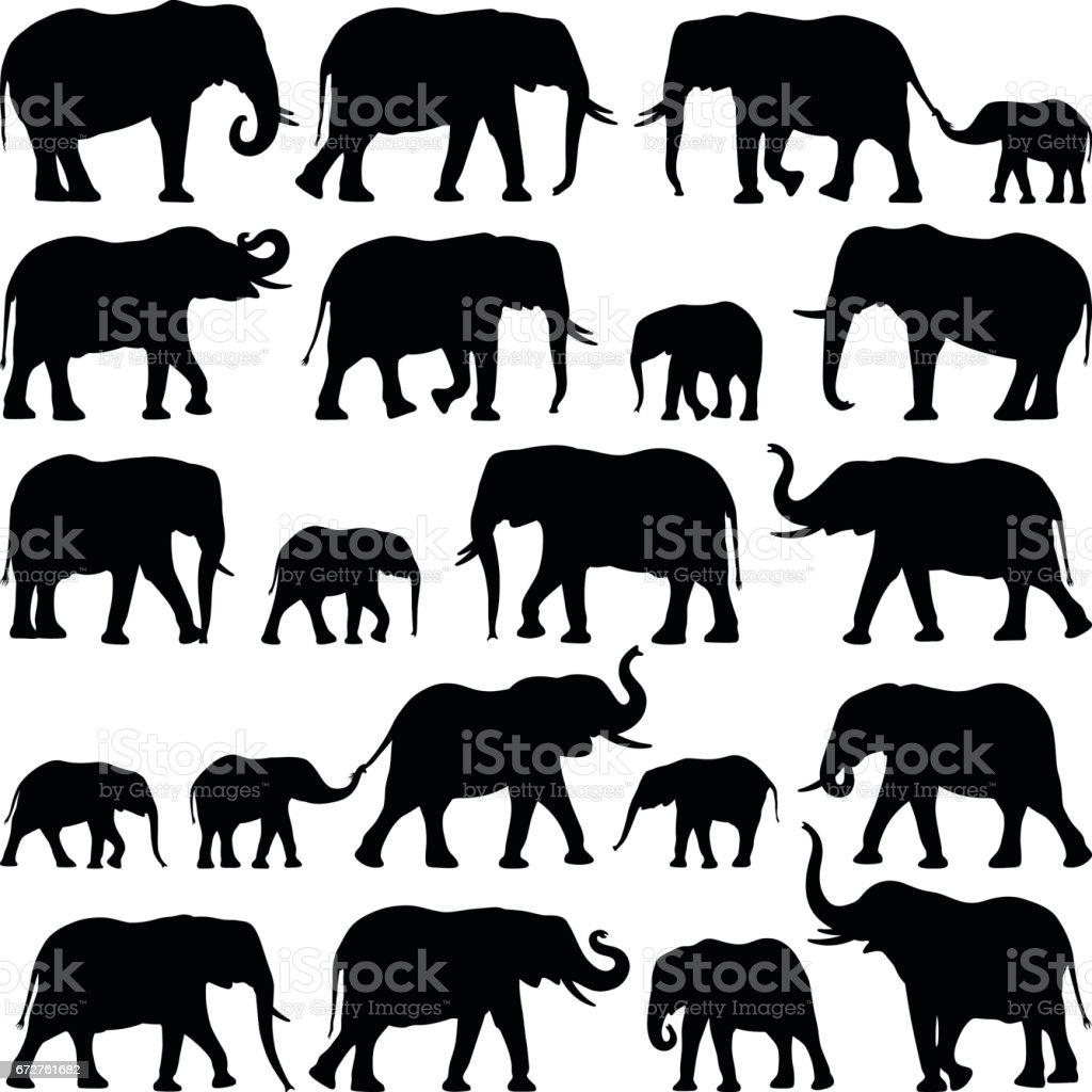 Pin by Tammy Buhrts on Elephants ♥ | Elephant family, Elephant clip art,  Cartoon elephant
