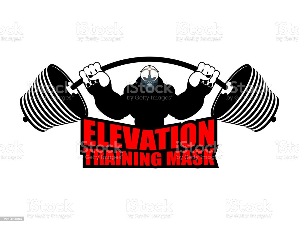 Elevation Training mask fitness. Athlete and barbell. Emblem for sports accessory royalty-free elevation training mask fitness athlete and barbell emblem for sports accessory stock vector art & more images of adult