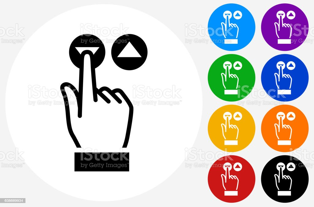 elevator buttons icon on flat color circle buttons stock vector art rh istockphoto com