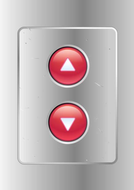 Elevator buttons vector art illustration