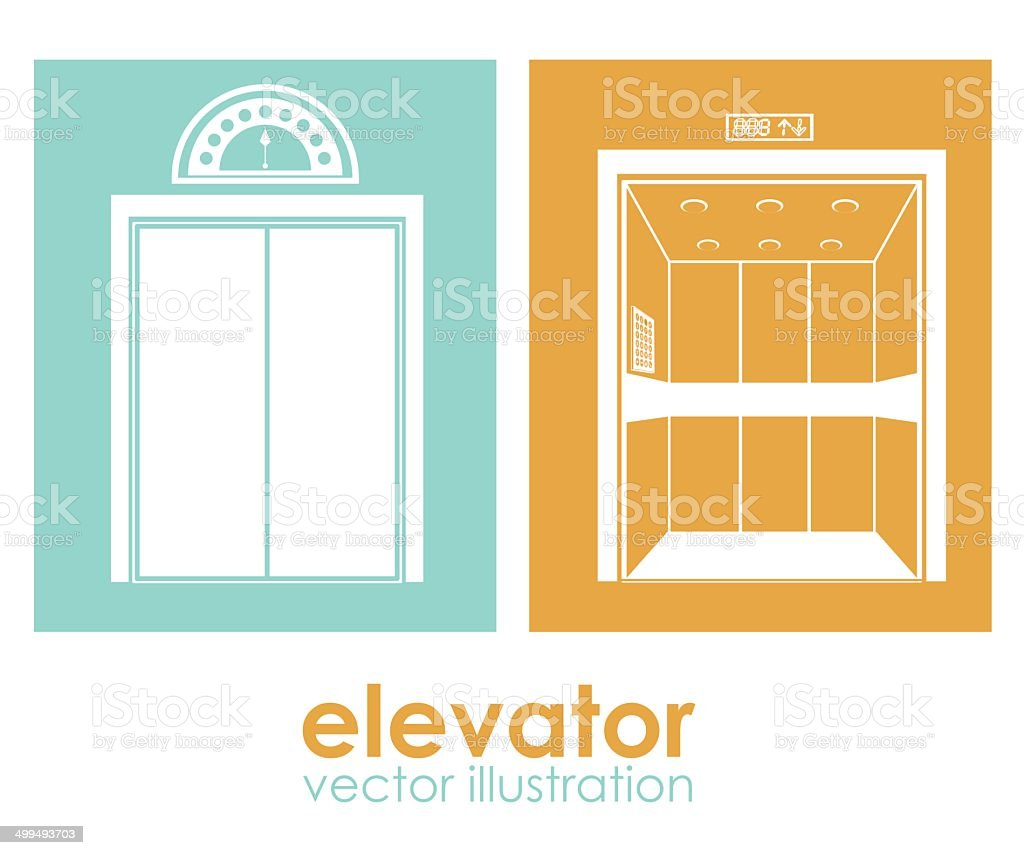Elevator design vector art illustration