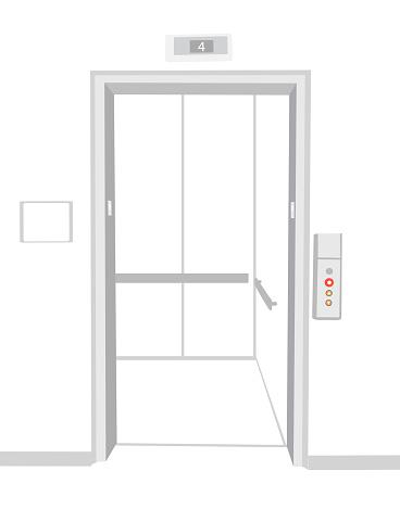 Elevator Empty Open Door