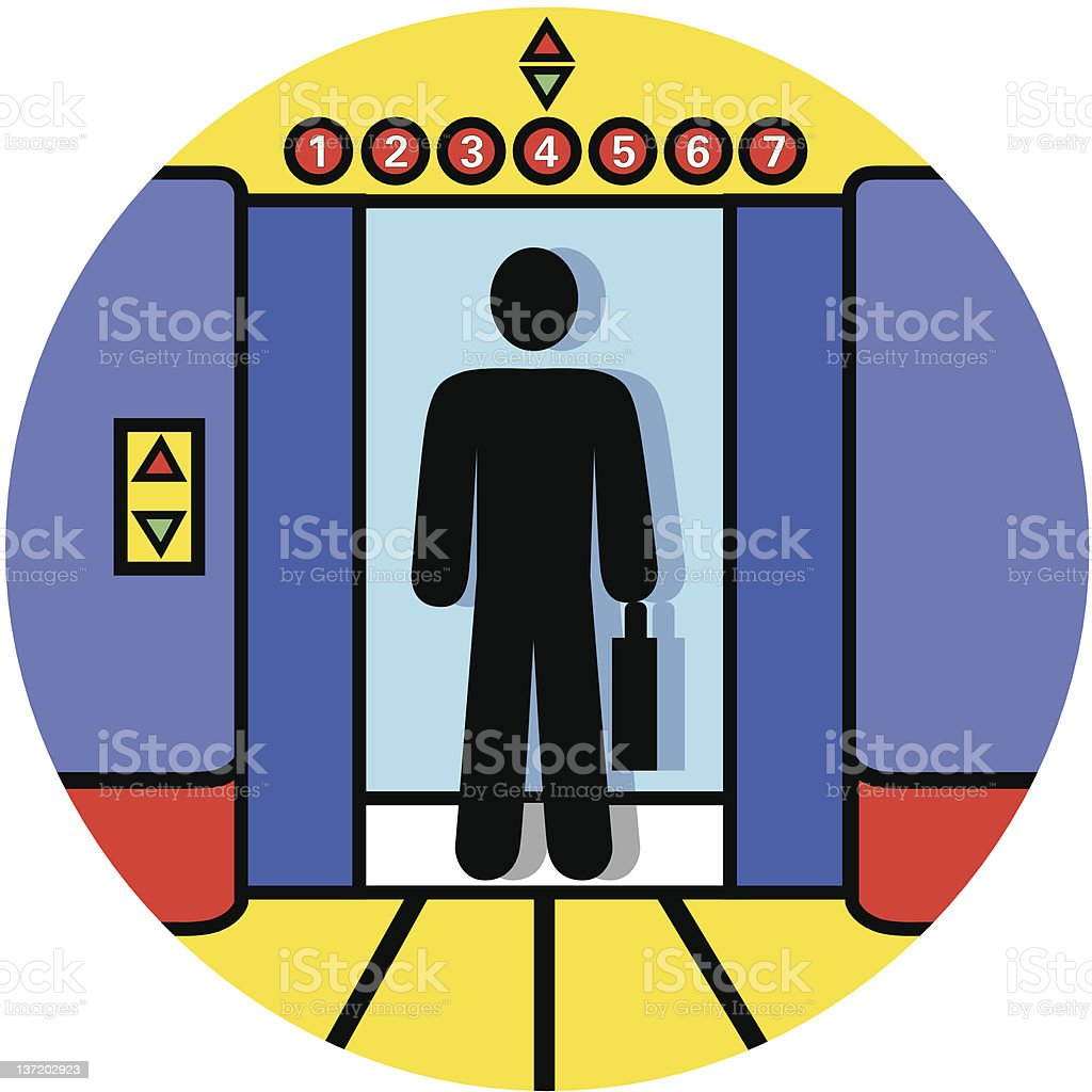 elevator icon royalty-free stock vector art
