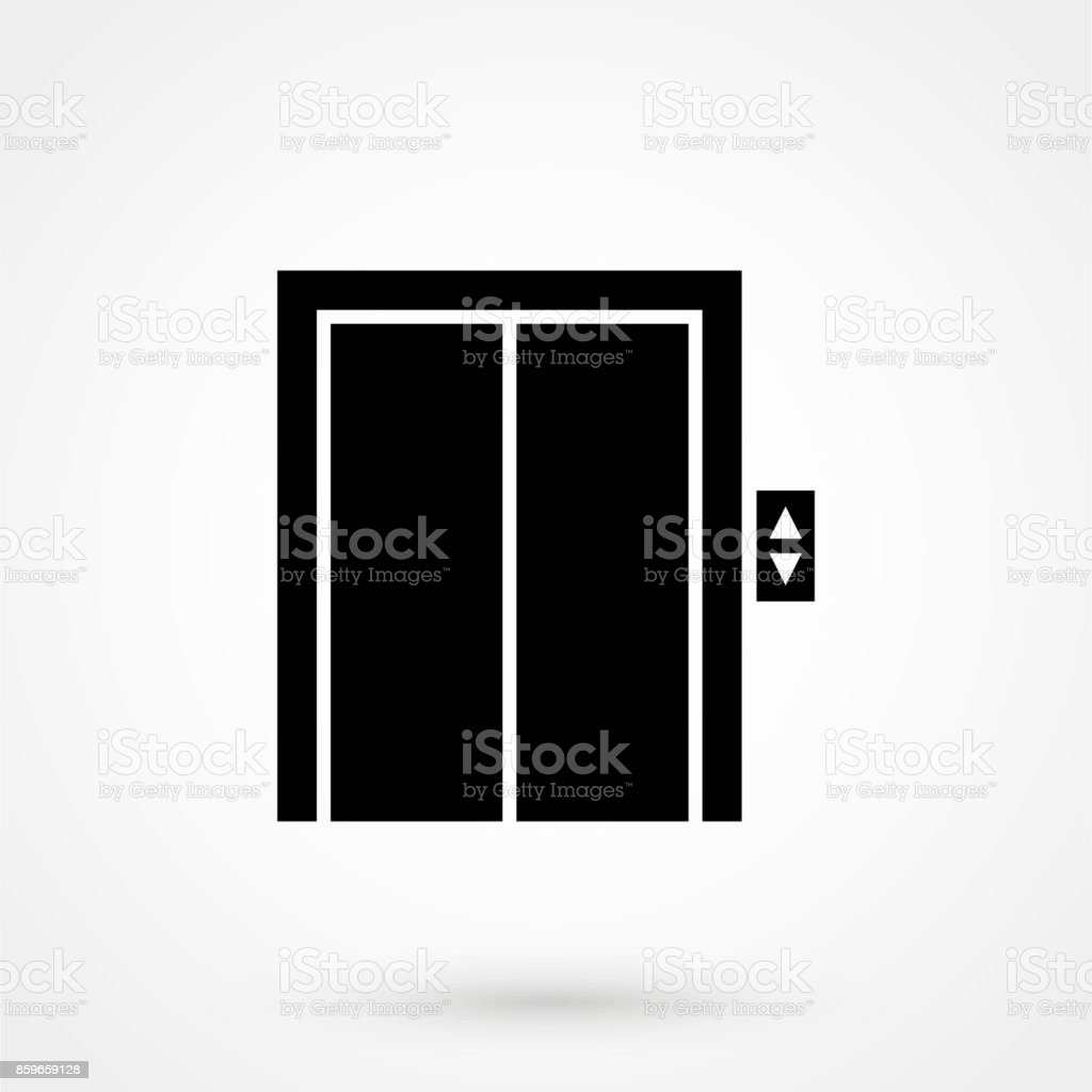 elevator icon vector art illustration