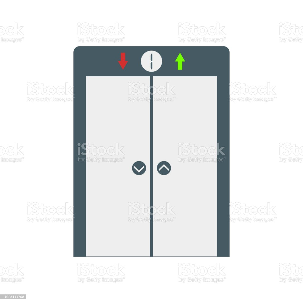 Elevator icon vector sign and symbol isolated on white background, Elevator logo concept vector art illustration
