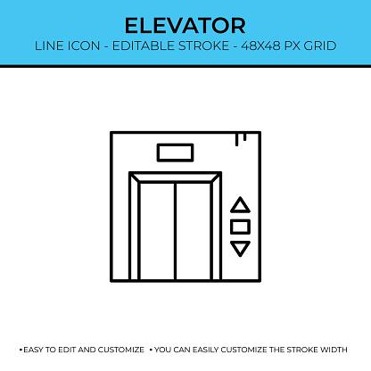Elevator Line Icon Design