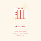 Elevator Vector Icon, Stock Illustration