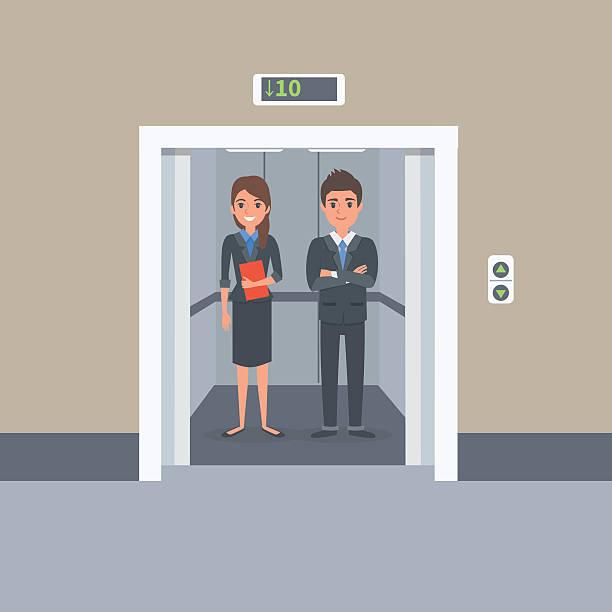 illustrazioni stock, clip art, cartoni animati e icone di tendenza di ascensore  - ascensore