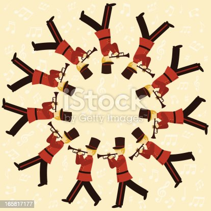 Eleven Pipers Piping Stock Vector Art & More Images of ...