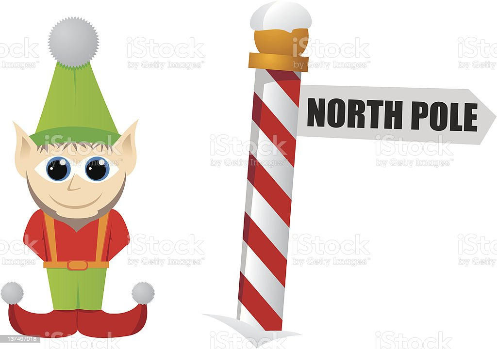 Elf vector art illustration