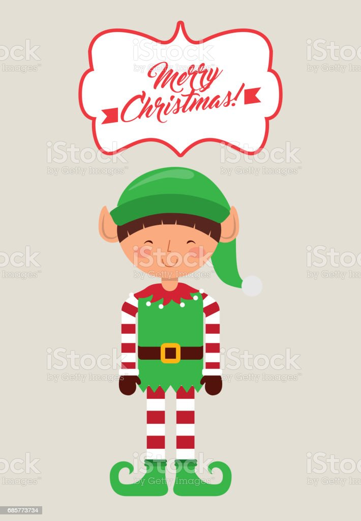 elf cartoon icon. Merry Christmas design. Vector graphic royalty-free elf cartoon icon merry christmas design vector graphic stock vector art & more images of arts culture and entertainment