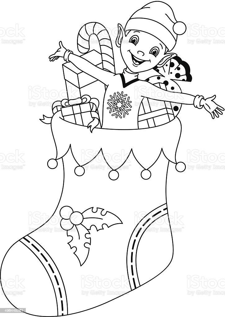 Coloriage Bebe Elfes.Elfe Colorier Page Vecteurs Libres De Droits Et Plus D Images De